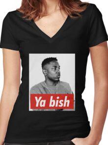 Kendrick Lamar  Ya Bish Women's Fitted V-Neck T-Shirt