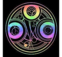 Rainbow Gallifreyan Doctor Who Photographic Print