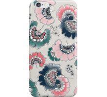 japanese watercoleor flowers iPhone Case/Skin