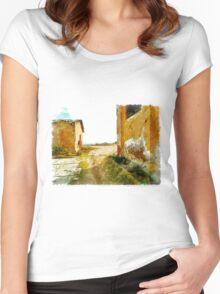 Island Caprera: military archeology Women's Fitted Scoop T-Shirt