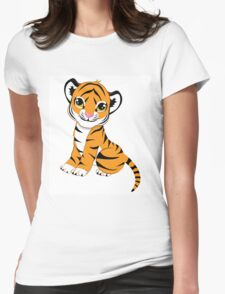 Cute Little Tiger Cub  Womens Fitted T-Shirt