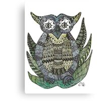 Geometric owl Canvas Print