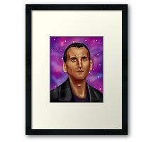 9th Doctor-Space Background Framed Print