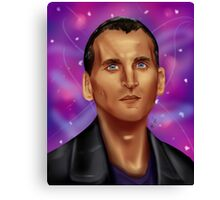 9th Doctor-Space Background Canvas Print