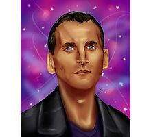 9th Doctor-Space Background Photographic Print