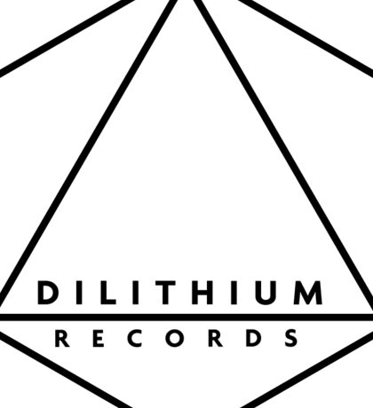 Dilithium Records Octahedron Logo Sticker