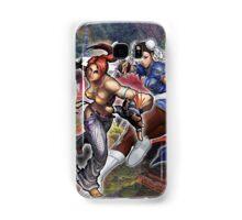 Cristie y Chun Li Street-Fighter Case Samsung Galaxy Case/Skin