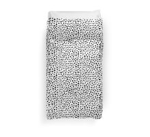 Modern Black and White Hand Drawn Polka Dots Duvet Cover