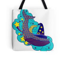 Space wizard whale Tote Bag