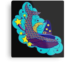 Space wizard whale Metal Print