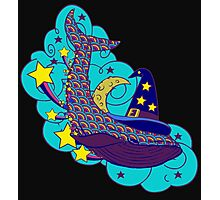 Space wizard whale Photographic Print