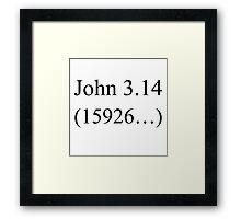 John 3:16 parody, Pi design. Framed Print