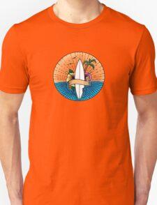 Surfing Hawaii Colour T Shirt Unisex T-Shirt