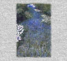 Impressionist Blue Flower Forest Path Unisex T-Shirt
