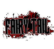 Fairy Tail Title (Maroon) Photographic Print