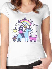 Unicorns Everywhere! Women's Fitted Scoop T-Shirt