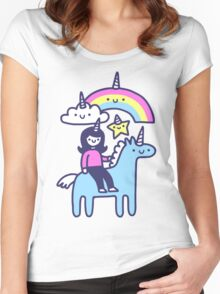 Unicorn Buds Women's Fitted Scoop T-Shirt