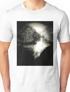 Looking to the mirror from the other side....Seeing your reflection, and a ghost of mine....Trying to deny it, but the damage is done...No easy way out T-Shirt