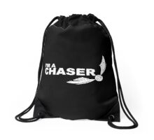 I'm a Chaser - WHITE Drawstring Bag