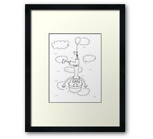 Falling Up Or Flying Down Framed Print