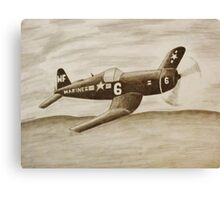 Corsair Marine Plane Canvas Print