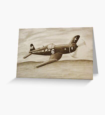 Corsair Marine Plane Greeting Card