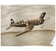 Corsair Marine Plane Poster