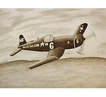 Corsair Marine Plane Photographic Print