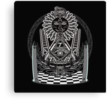 Secret society tracing board Canvas Print