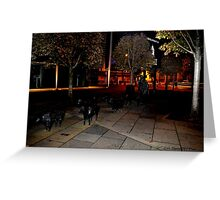 Sheep on the streets .. pigs in the parlour! Greeting Card