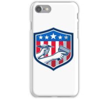 Drywall Repair Service American Flag Shield Retro iPhone Case/Skin