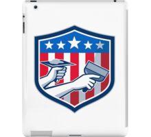 Drywall Repair Service American Flag Shield Retro iPad Case/Skin