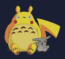 Totoro Pikachu Kids Tee
