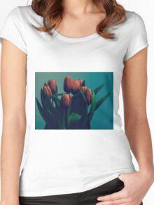 Orange Tulips Women's Fitted Scoop T-Shirt