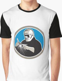 Tig Welder Welding Circle Retro Graphic T-Shirt