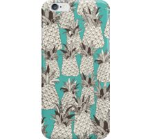 pineapple turquoise sea iPhone Case/Skin