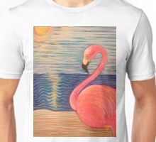 Flamingo Sunset Unisex T-Shirt