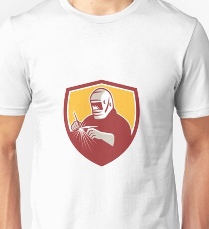 Tig Welder Welding Crest Retro Unisex T-Shirt