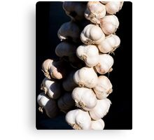 Garlic Braids Canvas Print