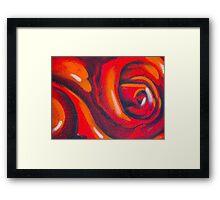 Graffiti Rose Framed Print