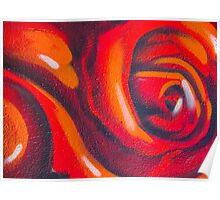 Graffiti Rose Poster