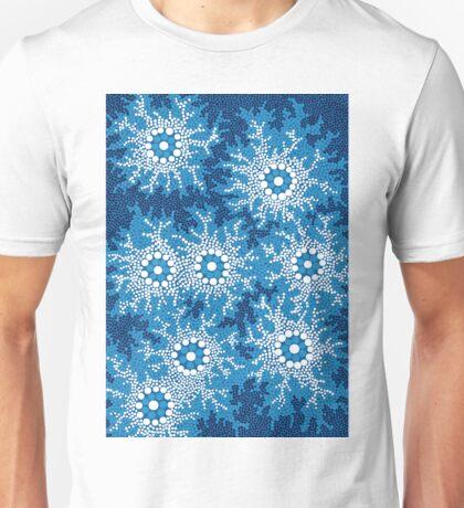 Aboriginal Art Authentic - Waterhole Dreaming Unisex T-Shirt