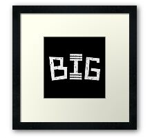 Big in the gym Framed Print