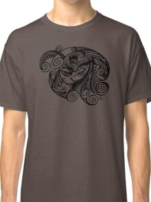Sleepy Eyed Face with Swirly Hair Classic T-Shirt