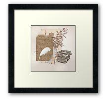 A Writer's World Framed Print