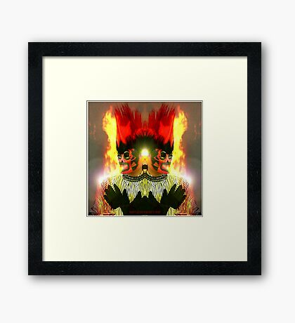 Self Portrait Series: No. 12 Ghost Rider's Wife Framed Print