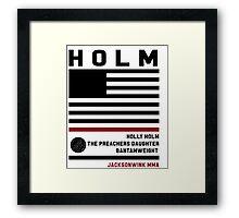 Holly Holm Fight Camp Framed Print