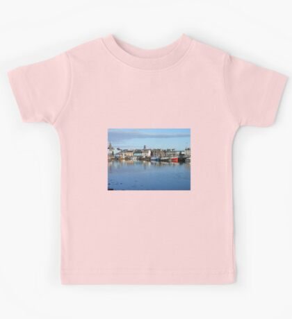 Colourful Boats - Summer Evening Reflections Kids Tee