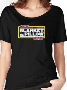 Greendale Fort Wars: Blanket vs Pillow Women's Relaxed Fit T-Shirt