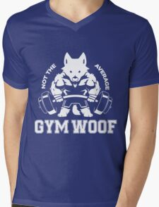 Not the average GYM WOOF Mens V-Neck T-Shirt